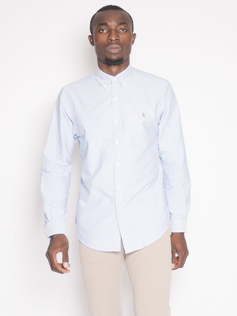 RALPH LAUREN-Camicia Oxford Blu-TRYME Shop