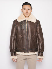 Giacca 257S in Shearling   Marrone