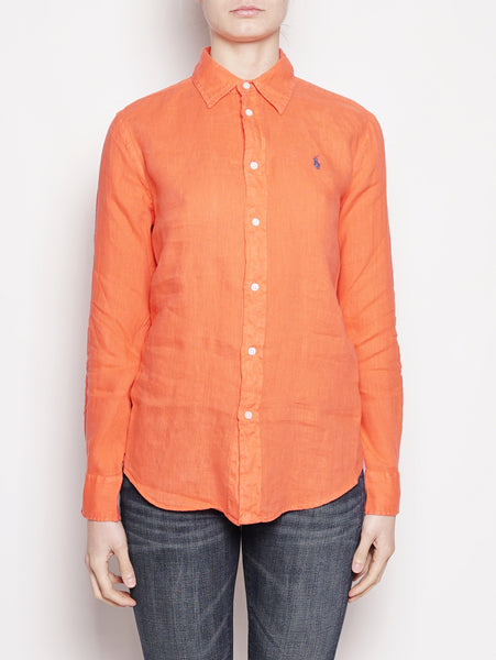 Camicia in lino Relaxed-Fit Rosso