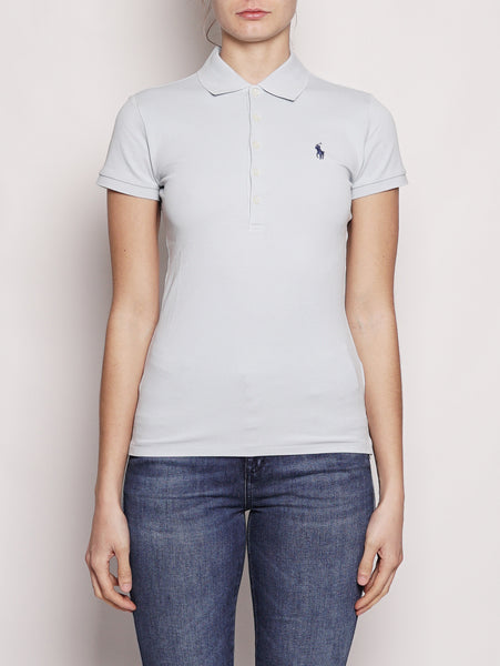 Polo stretch Slim-Fit Celeste