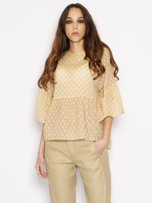 CLOSED-Blusa con Rombi Mostarda-TRYME Shop
