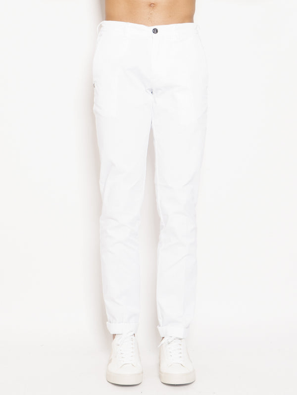 40WEFT-Chino in Cotone Lenny Bianco-TRYME Shop