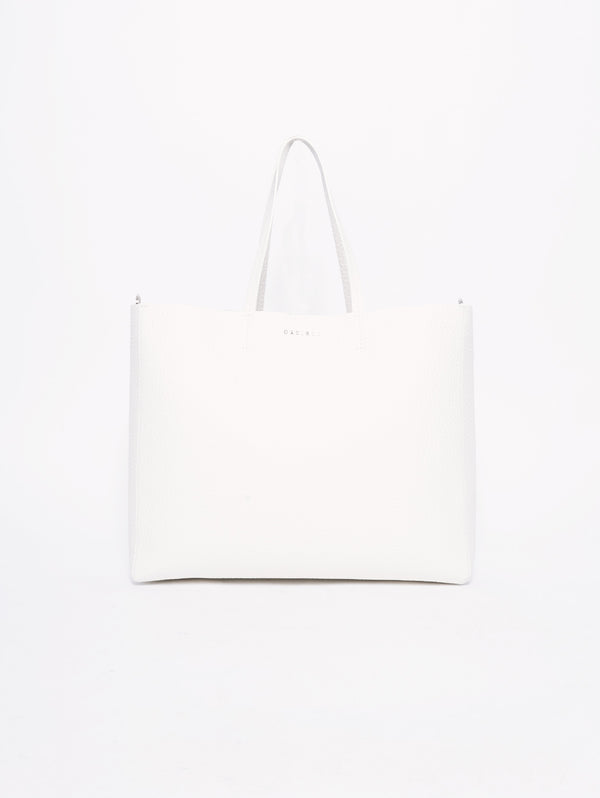 ORCIANI-Borsa Shopper Soft Line Bianco-TRYME Shop