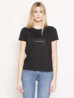 ROY ROGERS-T-shirt con Stampa Nero-TRYME Shop