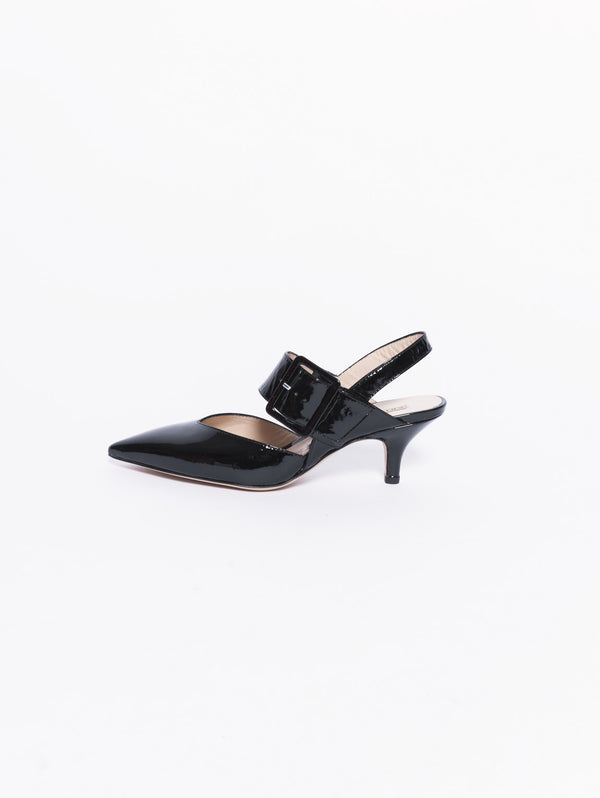 Decollete in pelle lucida Nero-Scarpe-CHIARINI-TRYME Shop