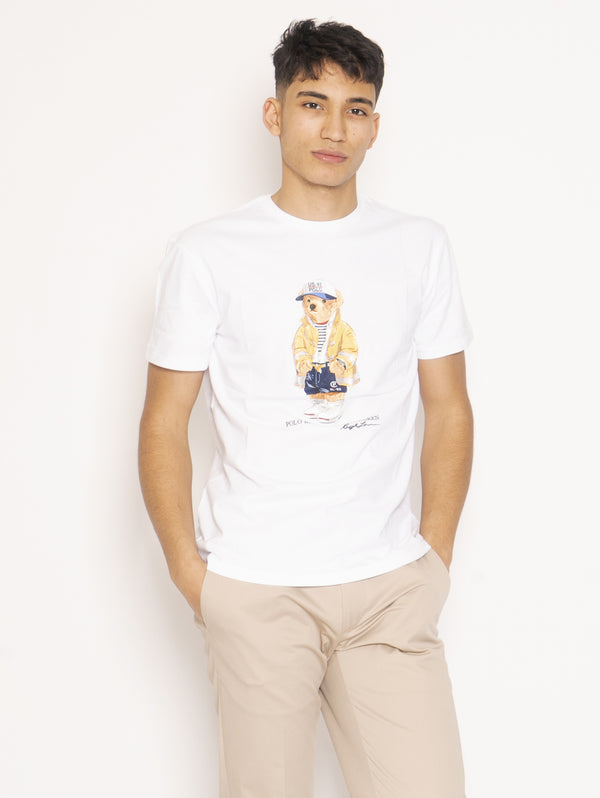 RALPH LAUREN-T-shirt Polo Bear Bianco-TRYME Shop