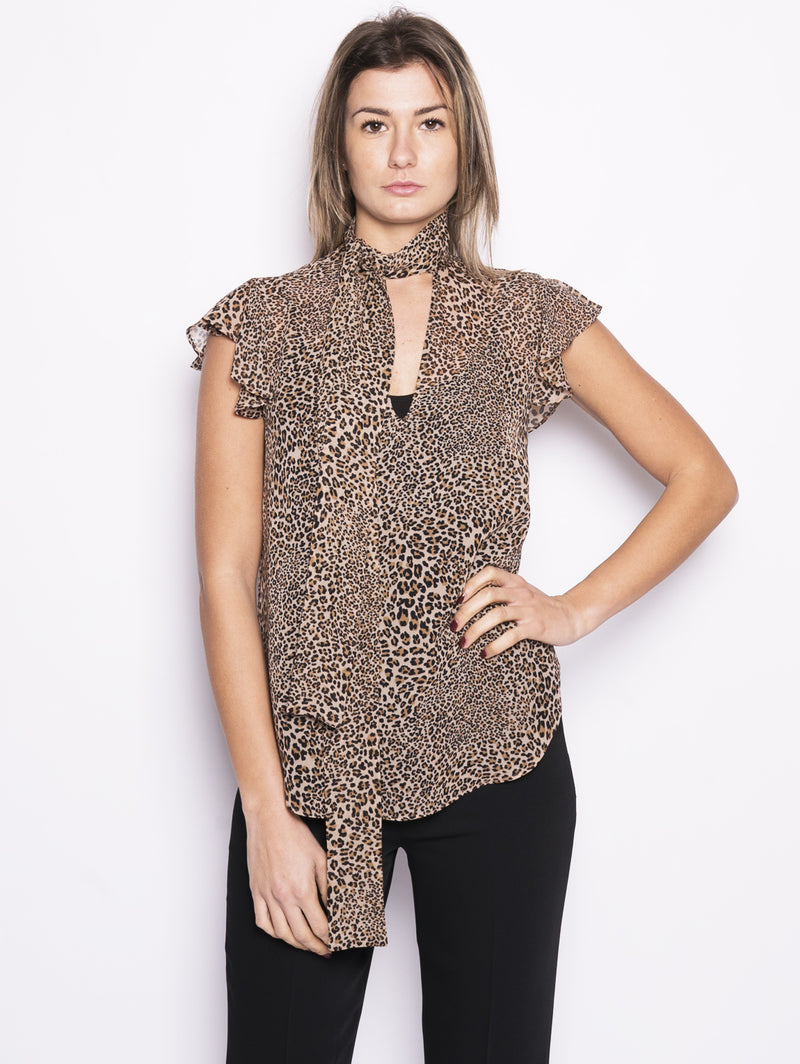 Blusa animalier con fuschiacca - 191TP2720 Animalier-Blusa-TWIN SET-TRYME Shop