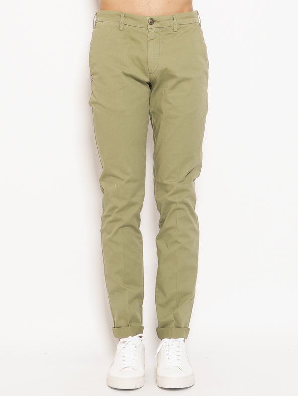 40 WEFT-Chino in Cotone Lenny Verde-TRYME Shop