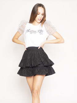 ANIYE BY-Top con maniche in tulle Maty - White Pois-TRYME Shop