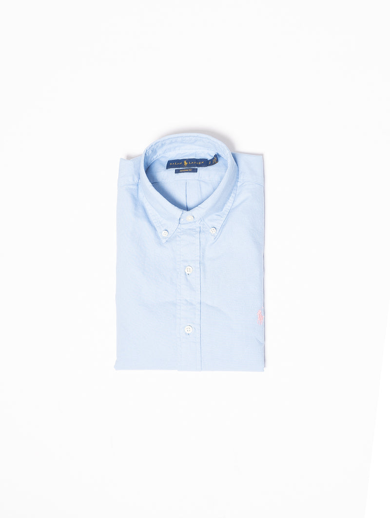 RALPH LAUREN-Camicia Custom Fit Blu-TRYME Shop
