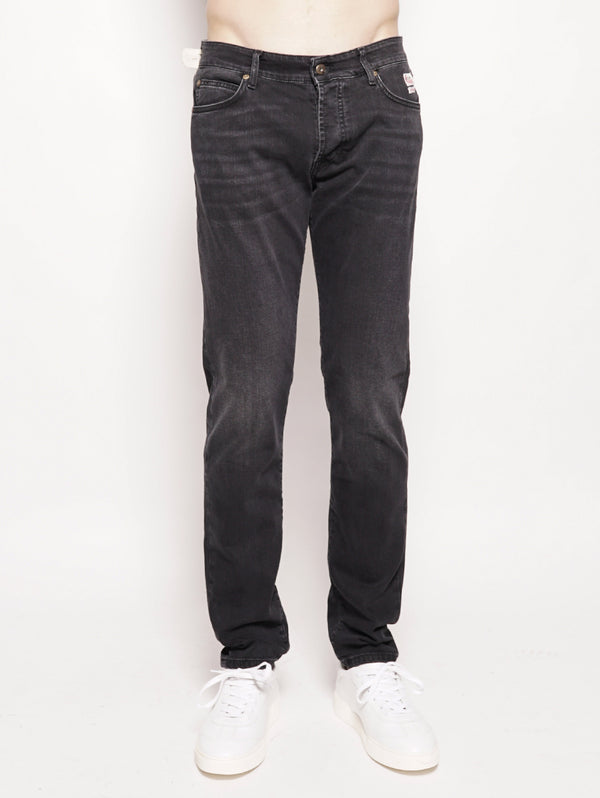 ROY ROGERS-Jeans Superior Maine Nero-TRYME Shop