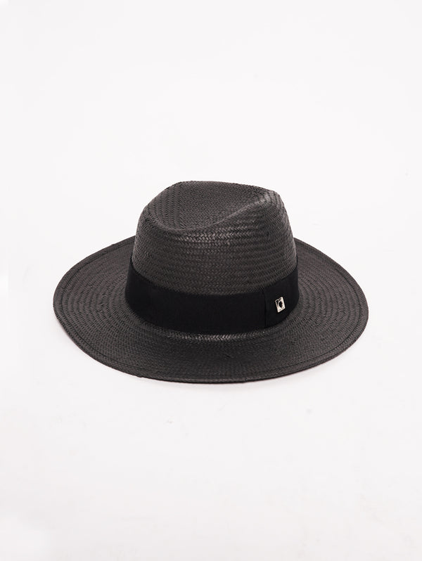 TWIN SET-Cappello in Paglia Nero-TRYME Shop
