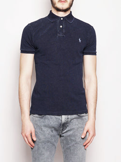 RALPH LAUREN-Polo in piquè Slim-Fit Denim-TRYME Shop