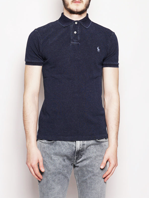 Polo in piquè Slim-Fit Denim-Polo-RALPH LAUREN-TRYME Shop