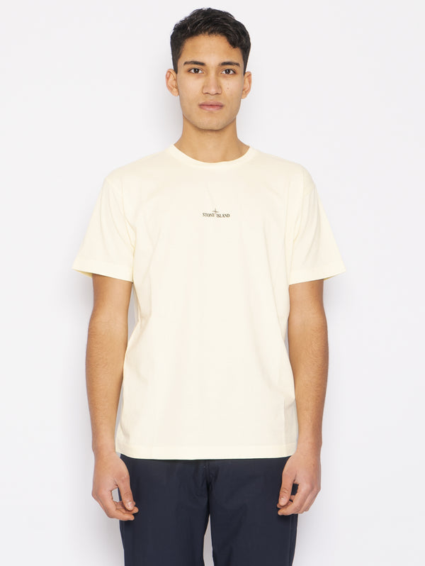 STONE ISLAND-T-shirt con Stampa Logo Limone-TRYME Shop