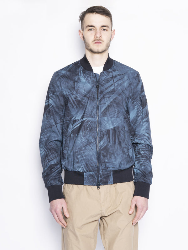 WOOLRICH-Bomber Stampato Blu-TRYME Shop