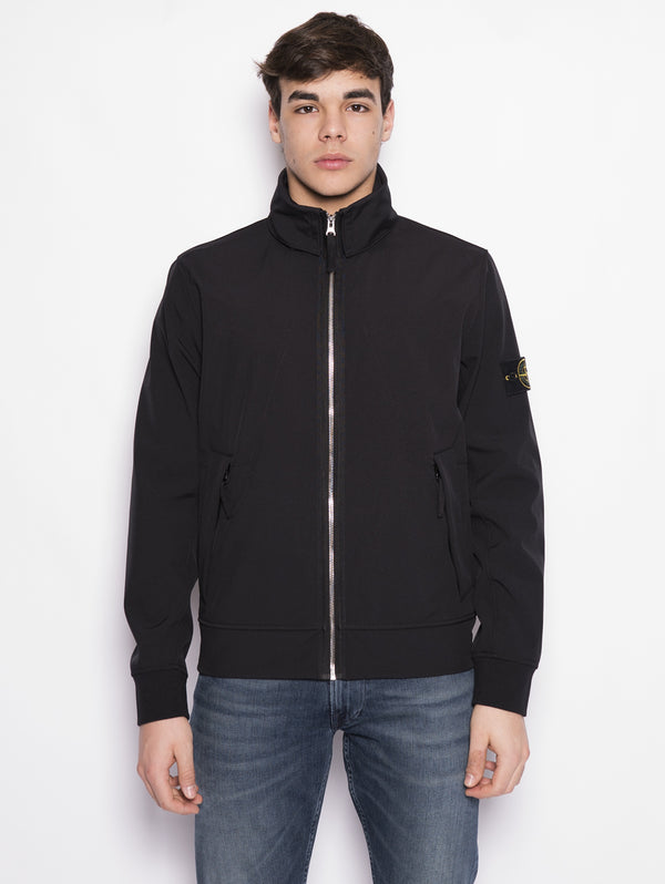 43327 LIGHT SOFT SHELL-R Nero-Jacket-STONE ISLAND-TRYME Shop