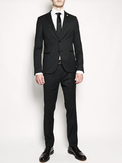 MANUEL RITZ-Abito slim fit stretch Nero-TRYME Shop