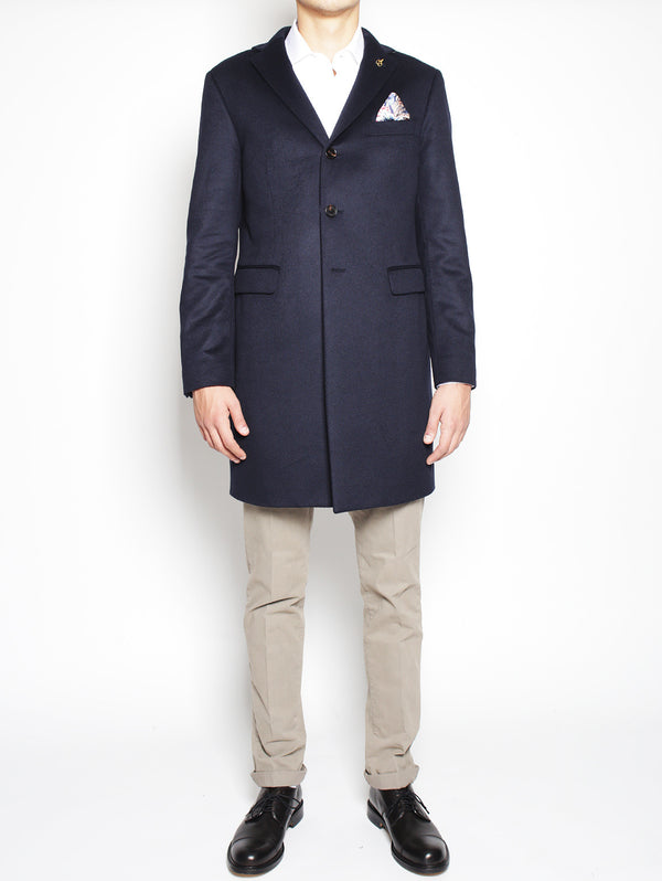 PAOLONI-Cappotto in Cashmere 2111C207 161640 NAVY-TRYME Shop