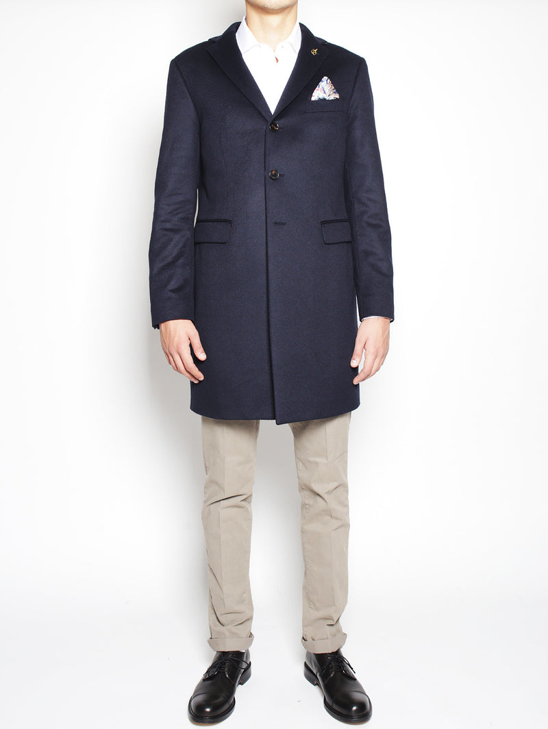 PAOLONI-Cappotto in Cashmere Navy-TRYME Shop