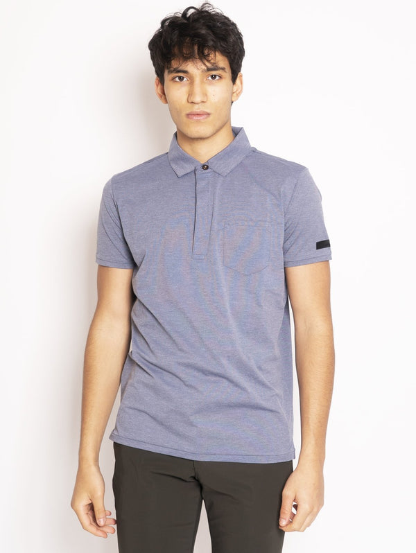 RRD-Polo Stretch Polo Chambray Blu-TRYME Shop