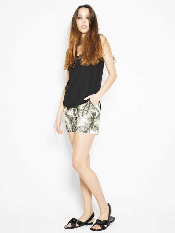 Green Jungle Print Shorts
