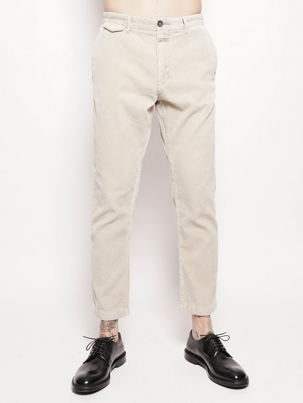 CLOSED-Pantalone in Velluto a Coste Beige-TRYME Shop