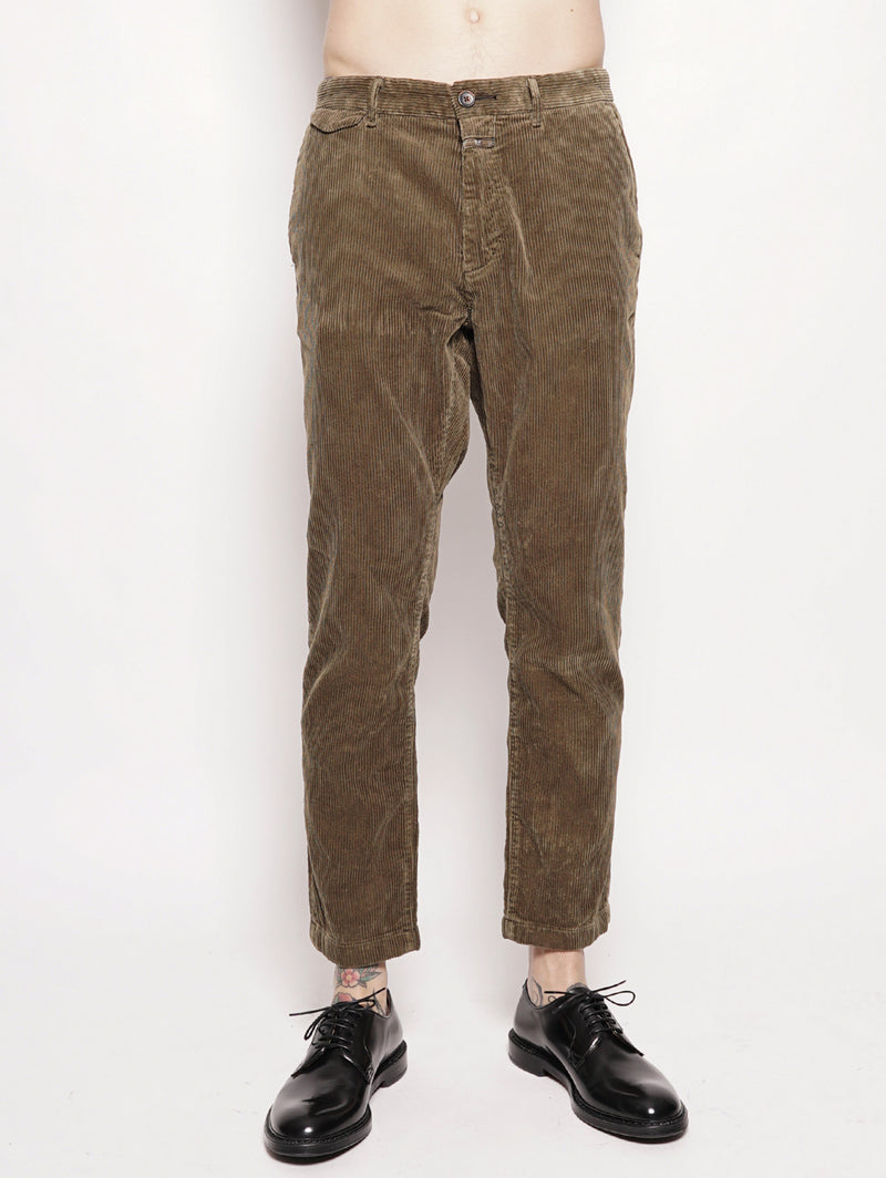 CLOSED-Pantalone in Velluto a Coste Verde-TRYME Shop