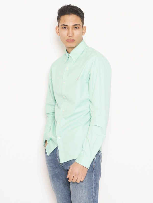 Camicia Feather Weight Twill Untucked Fit Verde
