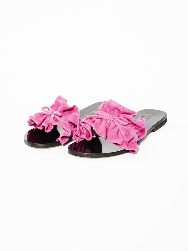 Slipper with Fuxia Rouche
