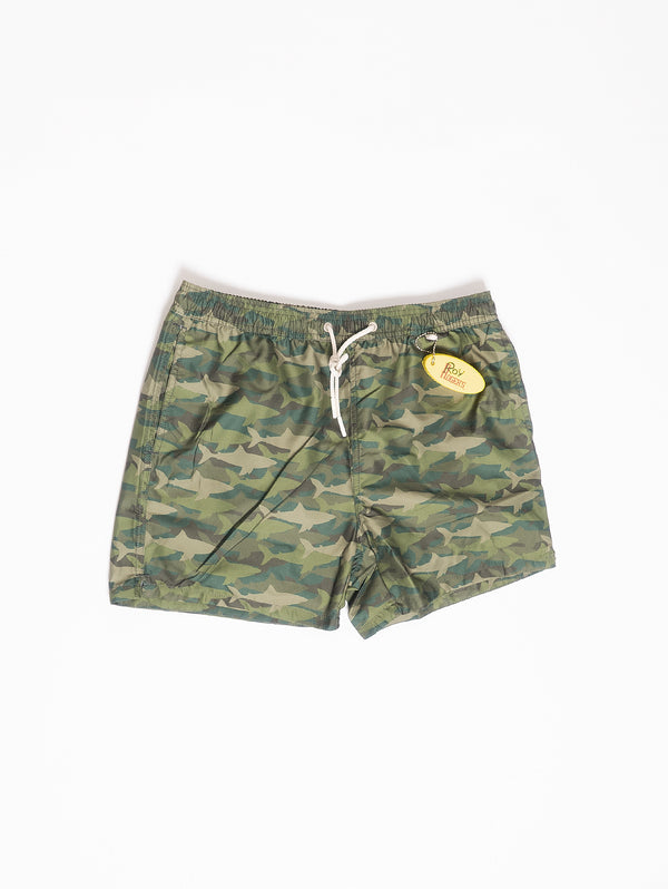ROY ROGERS-Shorts da Mare Verde-TRYME Shop