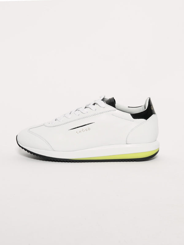 SNEAKERS IN PELLE 45MM Bianco-Scarpe-GHOUD-TRYME Shop