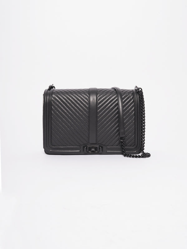 Rebecca Minkoff-Jumbo Love Crossbody Nero-TRYME Shop