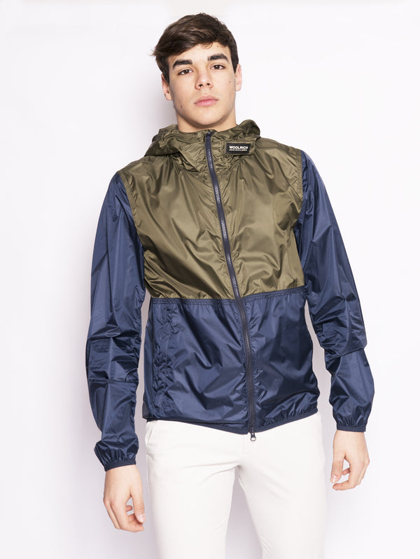 WOOLRICH-Giacca antivento Verde-TRYME Shop