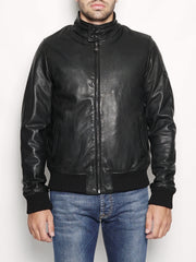 BARRACUDA PADDED LEATHER WASHED Nero