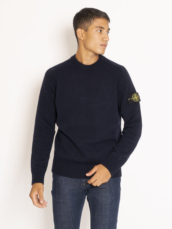 Crew neck Lambswool sweater - Blue