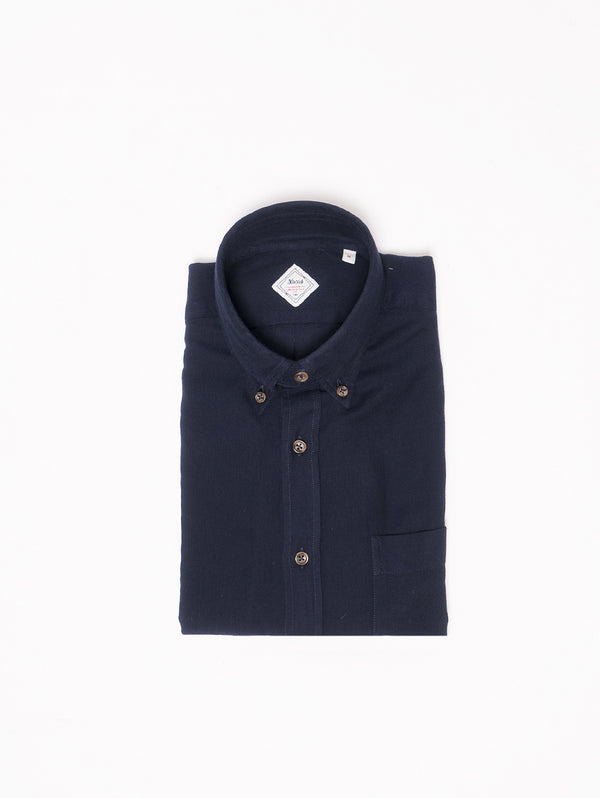 XACUS-Camicia in flanella button down Blu-TRYME Shop
