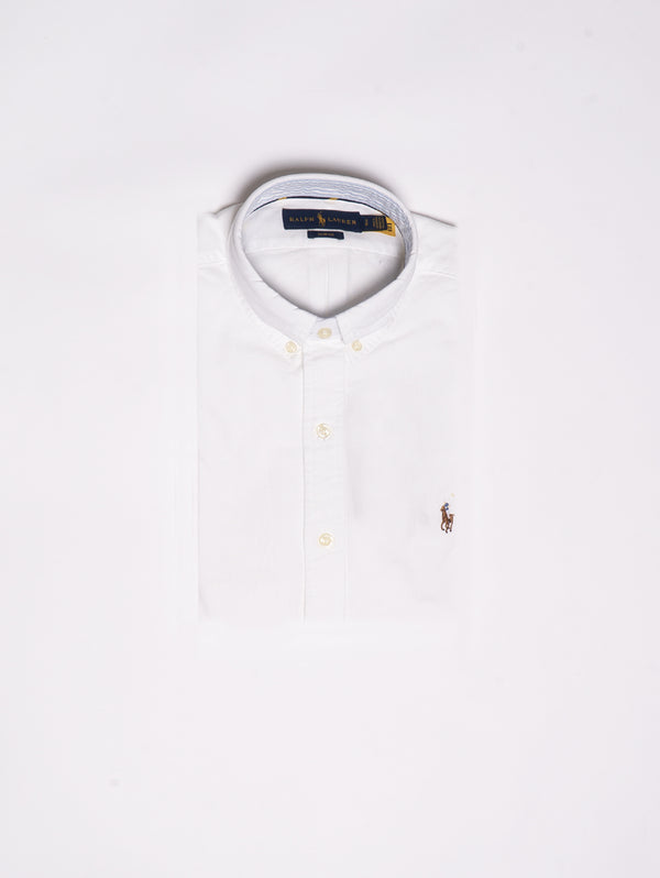 RALPH LAUREN-Camicia Oxford - White-TRYME Shop