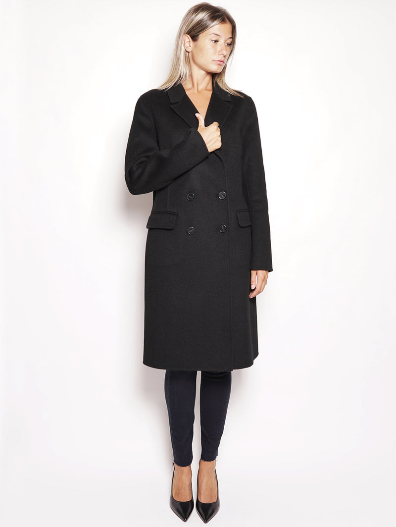 PINKO-Cappotto in Double Muzio Nero-TRYME Shop