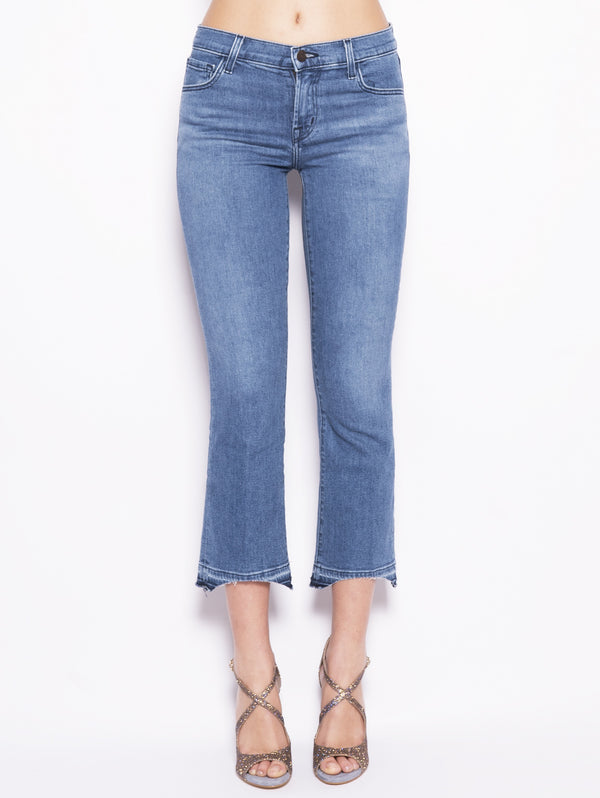 J BRAND-Selena Mid Rise Crop Boot Sustainable Denim Denim-TRYME Shop
