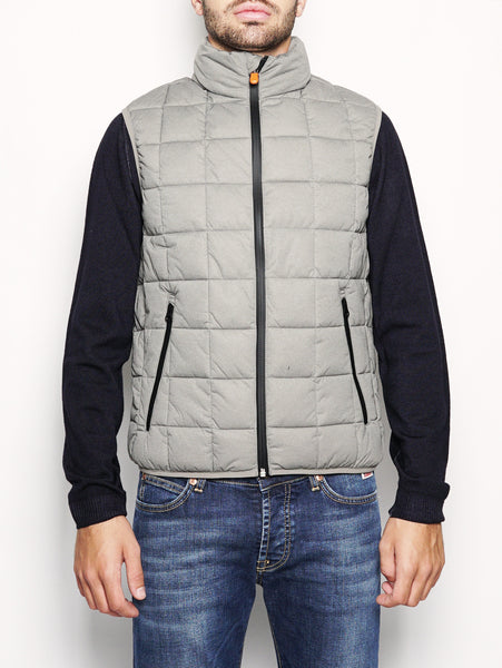 SAVE THE DUCK D8415M ANGY - Gilet trapuntato stretch Grigio Trymeshop.it