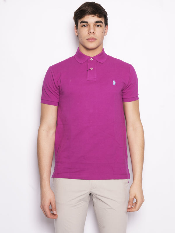 Polo in piqué Slim-Fit Ciclamino-Polo-RALPH LAUREN-TRYME Shop