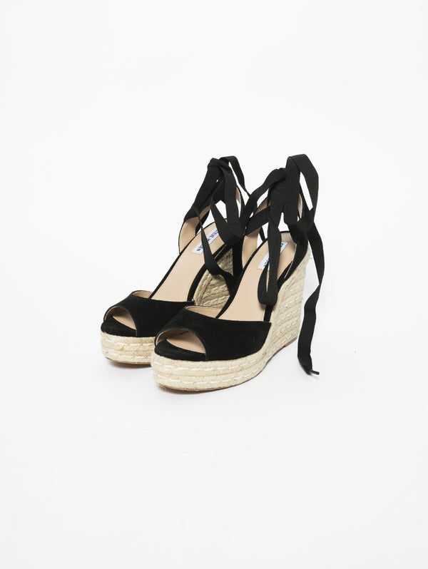 Zeppa Secret con lacci in gros grain Nero-Scarpe-STEVE MADDEN-TRYME Shop