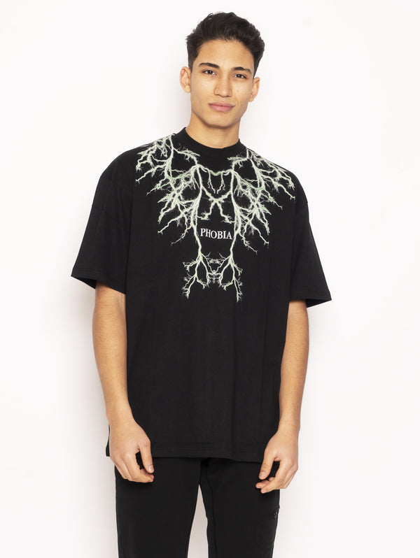 PHOBIA-T-shirt con Stampa Nero-TRYME Shop