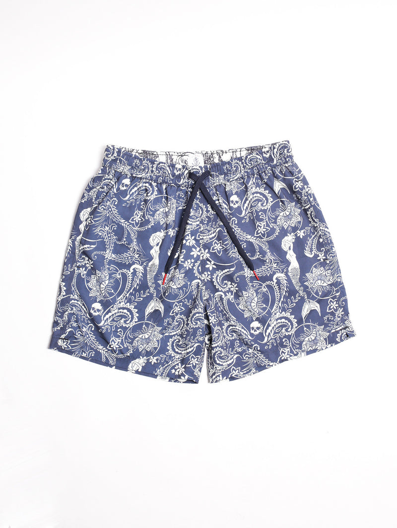 in the box-Boxer Mermaid Blue/White-TRYME Shop