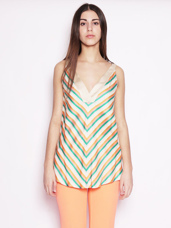 PINKO-Top a Righe Rosaria Multicolor-TRYME Shop