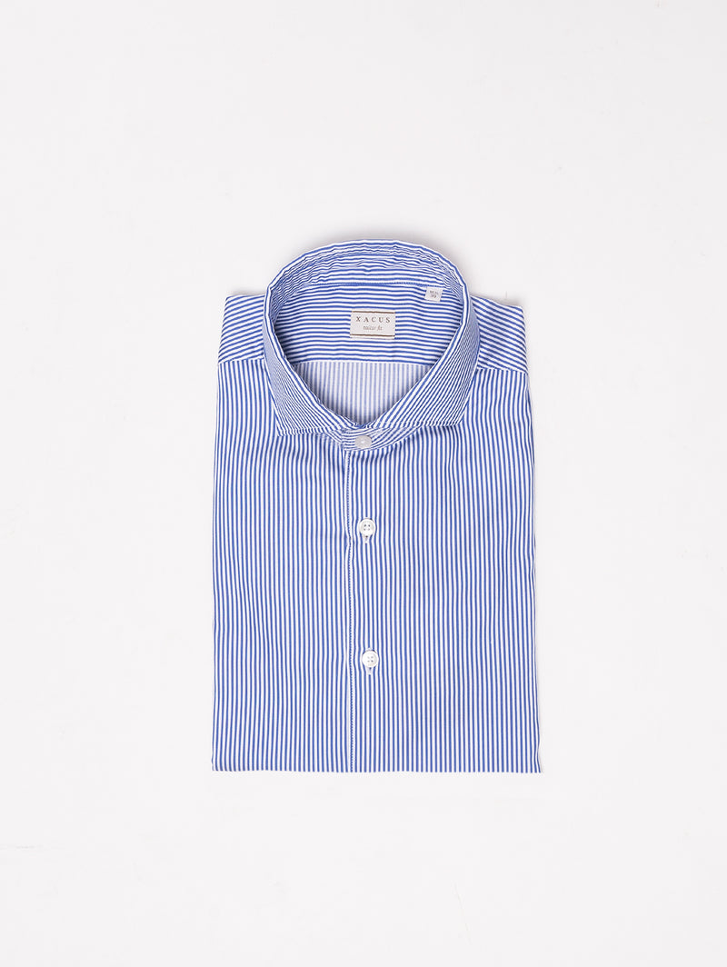 XACUS-Camicia a Righe Blu-TRYME Shop