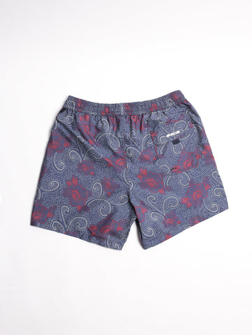 BOXER FLOWER INDIGO Blue Navy/ Burgundy