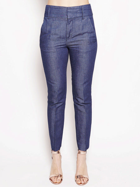Pantalone Chic in chambry vita alta Denim