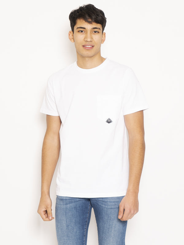 ROY ROGERS-T-shirt con Taschino Bianco-TRYME Shop